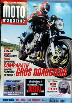 MOTO MAGAZINE [No 182] du 01/11/2002 - COMPARATIF GROS ROADSTERS