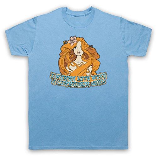 Inspiriert durch Neil Young Cinnamon Girl Unofficial Herren T-Shirt Hellblau