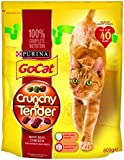 Go-Cat Dry Cat Food Crunchy Tender Beef, Chicken and Vegetable, 800 g - Pack of 4