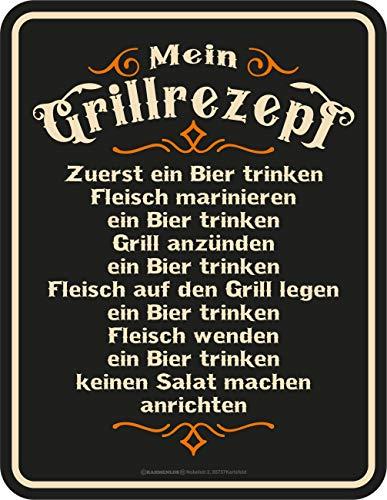 schild für den BBQ Grill Fan: Mein Grillrezept ()