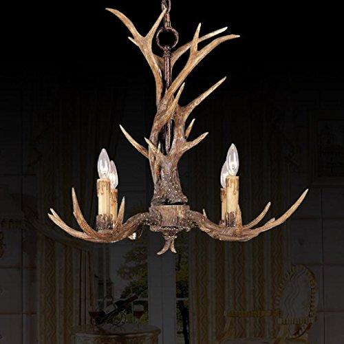 effortinc-vintage-chandelier-deer-horn-resin-4-lightsrural-countryside-antler-chandeliers-study-room