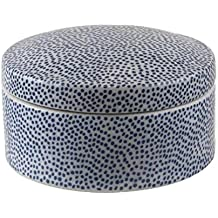 Better & Best Caja Redonda Grande Moderno, Color Azul, Cerámica, 13.00x13.