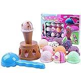Hilai 1 Packung Stacking Spielzeug Gleichgewicht Spiel Ice Cream Lustige Lernspiel Spielzeug Lebensmittel Pretend Play Toy Balancing Turm Spiel Spielzeug für Kinder über 3 Jahre alt