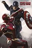 Poster Marvel Captain America - Civil War'Iron Man & Captain America' (61cm x 91,5cm) + un joli emballage cadeau