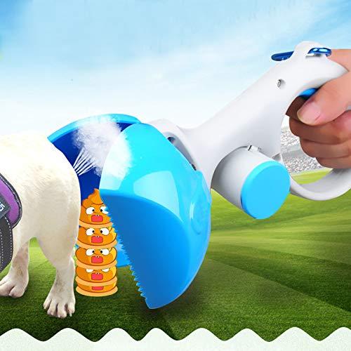 Delidraw 2 in 1 Pooper Scooper Pet Waste Scoop Easy Clean Pickup Grabber for Dog Walking -