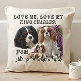 Personalizzato Cavalier King Charles Spaniel Pet Dog-Cuscino Scatter Cuscino personalizzato, idea regalo, 40 cm x 40 cm, con inserto/Pad