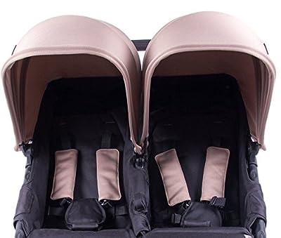 Baby Monsters Silla Gemelar Easy Twin 2 (taupe) + Regalo de un bolso Neceser