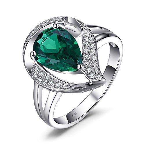 .9ct Nano Russischer Simulierter Smaragd Zirkonia Swirl Cocktail Ring 925 Sterling Silber ()