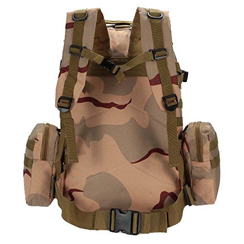 Lixada 50L esterno impermeabile multifunzione militare tattico zaino sport campeggio Escursioni borsa con molle webbings (Nero) Camouflage 6