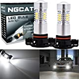 Ngcat auto LED Lampadina 2PCS H165202DRL Fog Light replacement chipset 283521SMD lampadine LED con lente proiettore auto guida luci diurne, Xenon bianco ,10–16V 10.5W