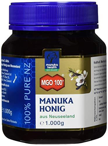 Manuka Health - Manuka Honig MGO 100 + 1000g - 100{f862e443ba1f4c526cc33c1f56b0f3aaa7c60ceec970c42b0e3f48ee2d70fd50} Pur aus Neuseeland mit zertifiziertem Methylglyoxal Gehalt