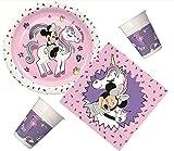 PROCOS 10133061 - Kit de Fiesta para cumpleaños Infantil (tamaño pequeño), diseño de Minnie Mouse y Unicornio