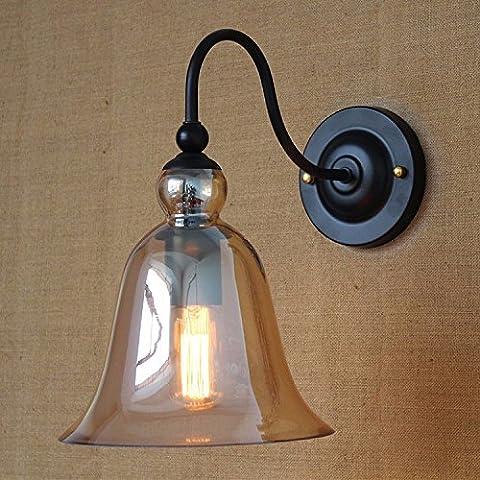 LINA-Regali di Natale Halloween Ristorante retrò americano personalità creativa illuminazione esterna antico stile europeo industriale luci lampade da parete,Amber