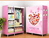 #8: Fancy and Portable Foldable Closet Wardrobe Organizer, Storage Rack for Kids and Women, Clothes Cabinet, Bedroom Organizer (Size 105x45x165)