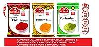 Kumar Super Hot Chilli Powder (200 g), Turmeric Powder (200 g) & Coriander Powder (200 g) (Pack of 3)