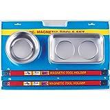 2 x Magnettschale Magnetteller Magnetschüssel 2 x Magnetleiste Magnetschiene Werkzeugleiste Messerleiste/MAGNETHALTER SET Satz 4-tlg.