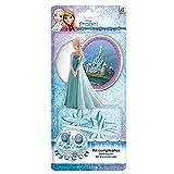Reine des neiges 303003 KIT Decoration GÂTEAU Figurine, Plastique, Multicolore, 11 x 5 x 23 cm