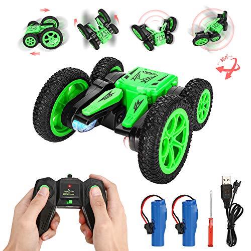 RC Coche, joylink 4WD 2.4GHz Stunt RC Car 1:20 Coche RC Doble Lado Rotación de 360 Con luz LED Grados de Alta Velocidad para Niños/Adultos(Baterías Incluidas)