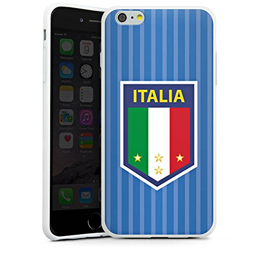 Apple iPhone X Silikon Hülle Case Schutzhülle Italien EM Trikot Fußball Europameisterschaft Silikon Case weiß