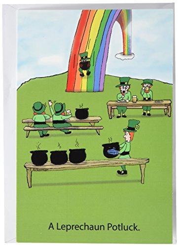 Potluck-Funny St. Patrick 's Day Grußkarte mit 12,7x 17,8cm Umschlag ()