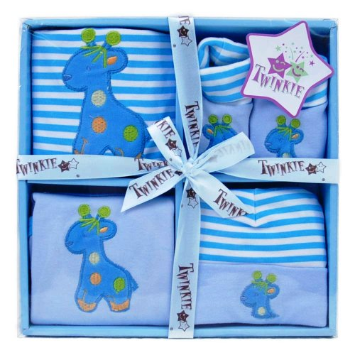 babys-adorable-blue-giraffe-4-piece-onesie-body-suit-bib-set