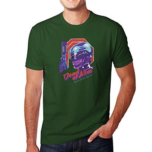 Planet Nerd - Dead or Alive - Herren T-Shirt, Größe XXL, flaschengrün (Starship Trooper Kostüm)