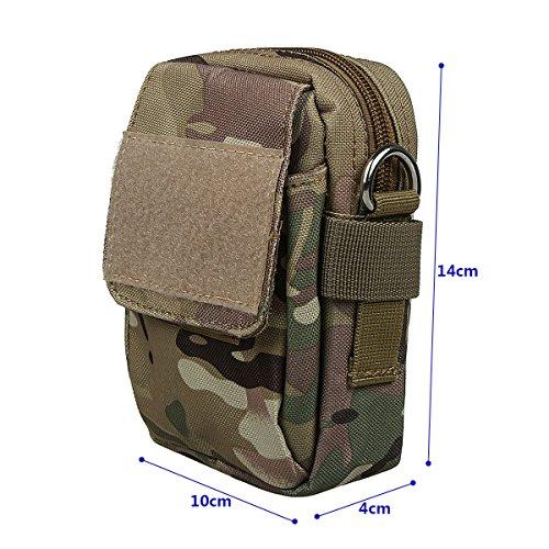 xhorizon TM taktischer Militaer-/ Nothilfe-/ medizinischer Sack (Molle), wasserdichte taktische EDC Tasche(Molle) (Huefte/ Gurt) # 1 mit Frankreich Flag Magic Tape