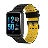 Teepao Smart Watch, IP68 Wasserdicht Sports Fitness Tracker Farbe IPS Bildschirm Activity Tracker mit Herzfrequenz/Sleep Monitor Kalorien Track, Schwarz