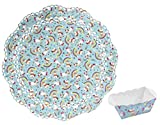 10 x Einhorn Backform / Papierbackform / Mini-Kastenform & 3x Unicorn Tortenpapier / Tortenspitzen im Set
