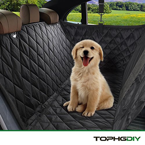 TOPHGDIY Hunde-decke Auto Autoschondecke Hundeschutzdecke für Hunde Autodecke Wasserdicht , Super Weich Rutschfest Kofferraumschutz Hund für alle Automodell - 57'x53'