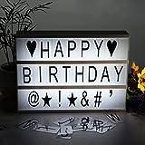 DEKOMORE DIY A4 Caja de Luz LED con 85 Cartas Combinación Libre Incluye 75 Letras y 10 Símbolos Ideal para Decorar e Iluminar su Hogar