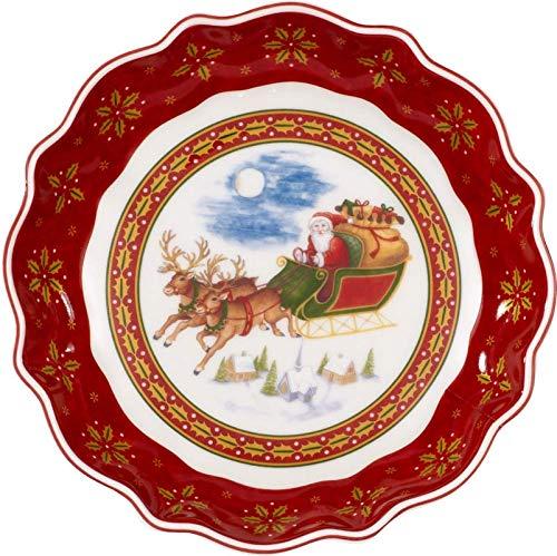 Villeroy & Boch Annual Christmas Edition Kleine Jahresschale 2018, 16 cm, Porzellan, Rot