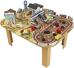 KidKraft  17209 Set treno e tavolo giocattolo Tracciato di Thomasville Cars 3 in legno
