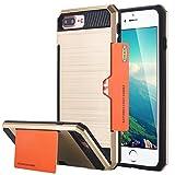 iPhone 7Plus Tablet, iPhone 7Plus Case, lontect Hybrid per Apple iPhone 7Plus con portacarte–Dual TPU silicone Hardcase Custodia Hard Cover