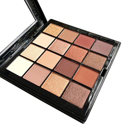 Fards à paupières,16 couleur perle Glitter fard à paupières poudre Palette Matt Eyeshadow cosmétiques maquillage ombres à paupières ensemble par LHWY