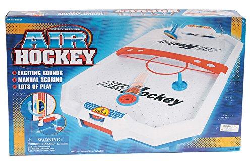 Mini AirHockey Air Hockey Spiel für den Tisch mit Sound (Mini-hockey-tisch)
