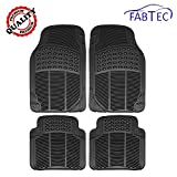 #1: Fabtec Premium Quality Black PVC Rubber Foot Mat, Floor Mat (Set of 4 Pcs) For Maruti IGNIS