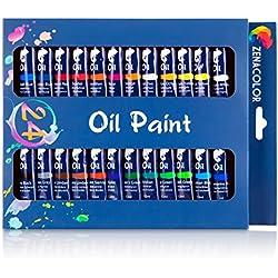 Set de 24 tubos de pintura al óleo Zenacolor - Pack de 24 x 12mL