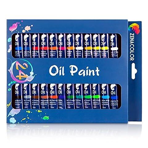 Set mit 24 Ölfarben von Zenacolor - 24 Tuben je