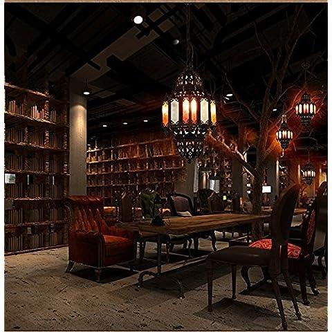 CHJK BRIHT Colore pendente in vetro ferro luci a lume di candela lampada da soffitto luci mostra il soggiorno