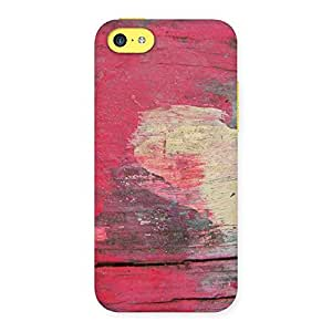 Special Vintage Red Yellow Print Back Case Cover for iPhone 5C