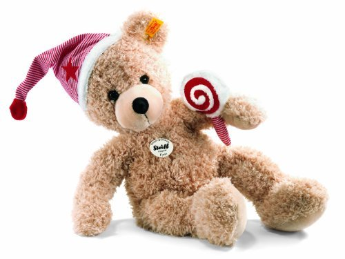 Steiff 40cm Fynn Teddy Bear with Cap and Lolly (Beige) by Steiff