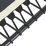 Klarfit Jumpanatic Fitness-Trampolin Indoor-Trampolin Garten-Trampolin (extra große 84 cm Sprungfläche, 109-134 cm einstellbare Griffhöhe 6-stufig, 120 kg max. Nutzergewicht) weiß - 4
