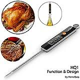 HomeQuip HQ1 alimenti e Termometro per cucinare-Slick, Design Ultra moderno e semplice pulsante interfaccia/Fast Read & precisione digitale con sonda per temperatura tutti i liquidi, alimenti, forno, barbecue, Grill & Stove Top