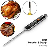 Homequip - Termómetro digital de cocina HQ1, diseño ultramoderno con interfaz de un botón sencilla, lectura rápida y precisa, para líquidos, alimentos, horno, barbacoa, parrilla y estufa