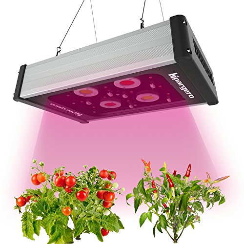 Grow Light - LED Grow Lampe 400W Pflanzenlampe Vollspektrum mit Hochleistungs COB und 5W CREE Chips für Zimmerpflanzen Innen-Gewächshaus Hydroponik Gemüse und Blumen