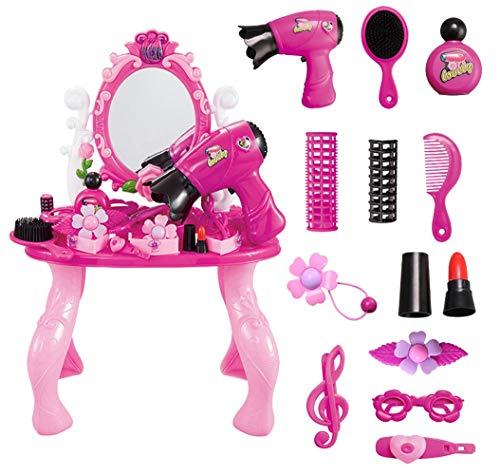 SK Studio Kinder-Rollenspiele Schminktisch Kommode Beauty-Spiel Rollenspiel Spiegel Spielzeug eingestellt für Kleinkinder Kinder Jungen Mädchen -
