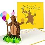 PaperCrush Pop-Up Karte Kindergeburtstag - 3D Geburtstagskarte für Mädchen und Jungen, Kinder Glückwunschkarte, Geschenkkarte zum Kinder-Geburtstag