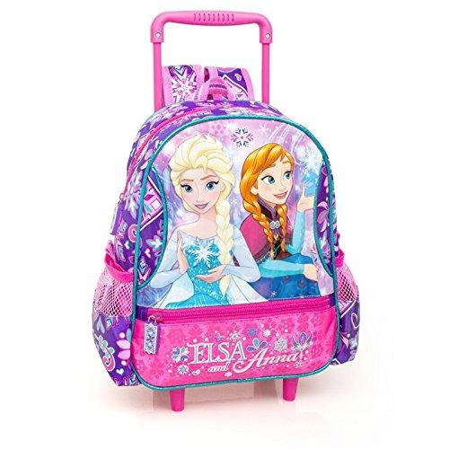 Zaino cartella borsa asilo con trolley frozen carrello scuola 17/18 anna elsa