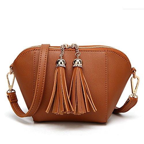 Mefly La Nuova Femmina Carino Borsetta Tracolla Messenger Bag Grigio brown